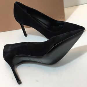 Via Spiga Black Suede Women's Heels Pumps Size 7.5